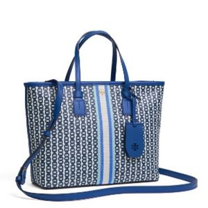 NWT Tory Burch Gemini Tote Small Bondi Blue Purse